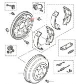 Rear Brake Drums, Shoes & Cylinders to VIN YA999999